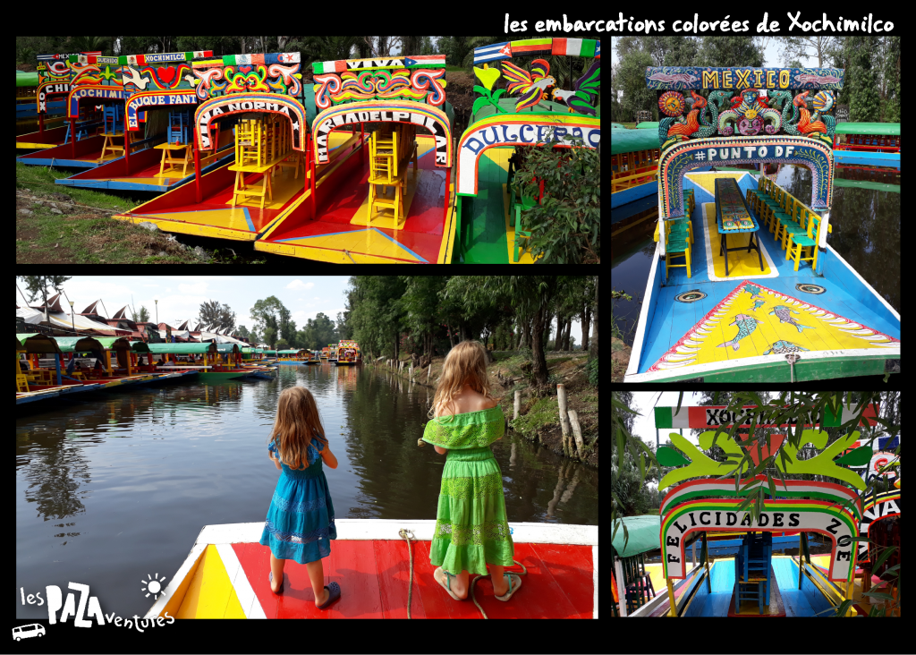 1 les embarcations colorées de Xochimilco